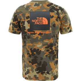 The North Face Red Box SS Tee Herr new taupe green macro flick print